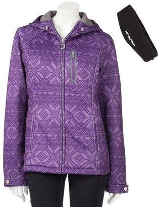 Zeroxposur fairisle hooded water-resistant soft shell jacket