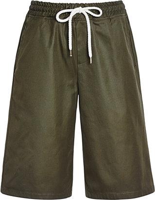 MSGM Drawstring Waist Cotton Shorts