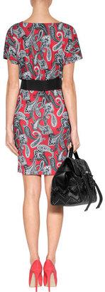 Etro Deep Coral Printed Jersey Dress