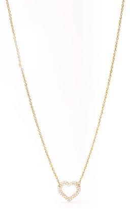 Gorjana CZ Open Heart Necklace