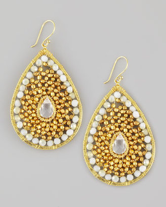 Nakamol Beaded Teardrop Earrings, White