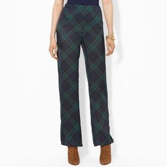 Ralph Lauren Wide-Leg Plaid Pant