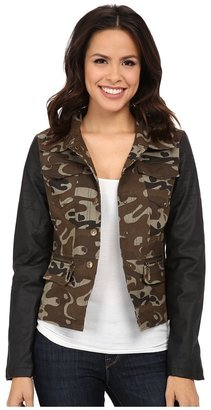 dollhouse Cotton Twill w/ PU Sleeves Jacket $59.99 thestylecure.com