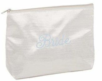 Ivy Lane DesignTM Embroidered Bride Cosmetic Bag in Ivory $12.99 thestylecure.com