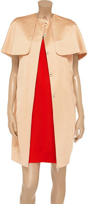 Vionnet Cape-effect faille coat
