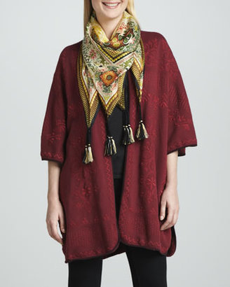 Johnny Was Claudine Embroidered Blanket Poncho