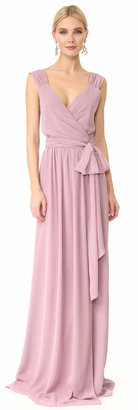 Joanna August Newbury Cap Sleeve Wrap Dress $285 thestylecure.com