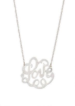 Delia's Calligraphy Love Necklace