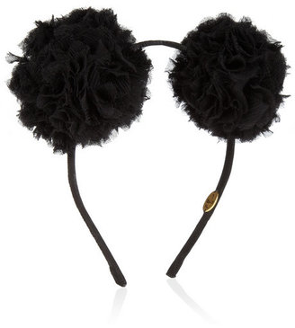 Eugenia Kim Mickey textured silk-chiffon and grosgrain headband
