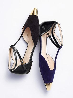 Victoria's Secret Collection Cap-toe T-strap Flat