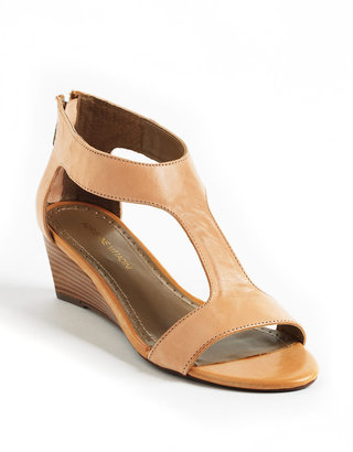 Adrienne Vittadini Coby Leather Wedge Sandals
