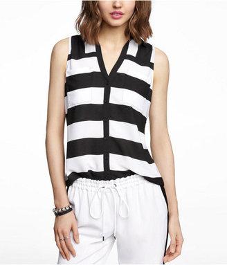 Express Wide Stripe Sleeveless Portofino Shirt