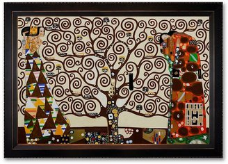 """Gustav """"The Tree of Life, Stoclet Frieze, 1909"""" Framed Canvas Art by Klimt"""