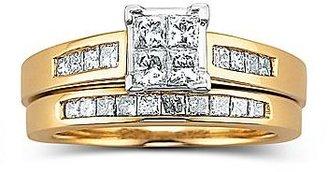 JCPenney 1 CT. T.W. Diamond Princess Cut 14K Bridal Ring
