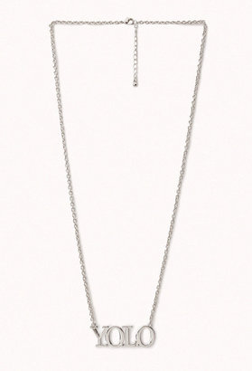 Forever 21 Y.O.L.O. Charm Necklace