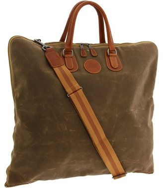 Mulholland Brothers - Simple Garment Bag (Tan Waxed Canvas) - Bags and Luggage