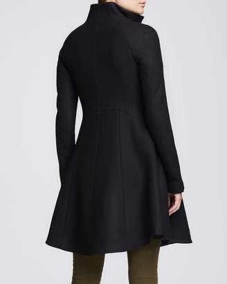 Nanette Lepore Skyscape Fit & Flare Wool Coat