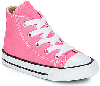 Converse HI girls's Shoes (High-top Trainers) in Pink