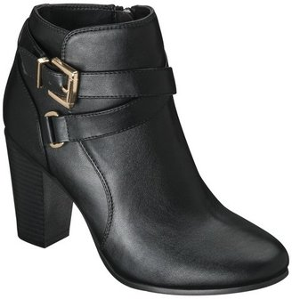 Merona Women's Kailey Ankle Boot with Buckles - Black
