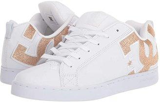 DC Court Graffik SE W (White/White/Metallic Gold) Women's Skate Shoes