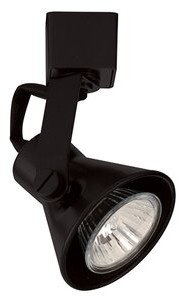 W.A.C. Lighting Miniature Luminaire Loop Back Track Head Finish: Black, Track Type: Halo