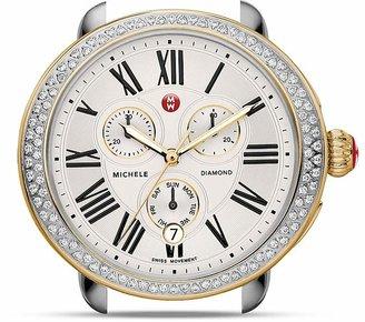 MICHELE Serein Two-Tone Diamond Watch Head, 40 x 38mm $1,895 thestylecure.com