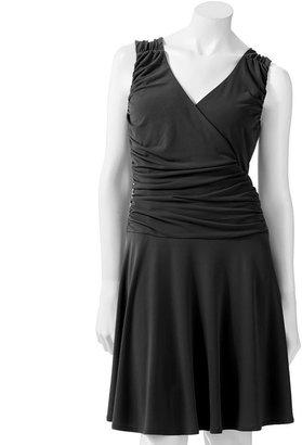 JLO by Jennifer Lopez surplice faux-wrap dress