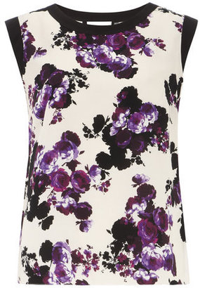 Dorothy Perkins Pink rose printed shell top
