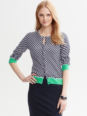 Banana Republic Printed Colorblock Cardigan