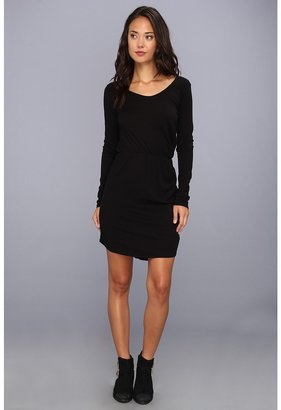 LAmade Drape Front Dress (Black) - Apparel