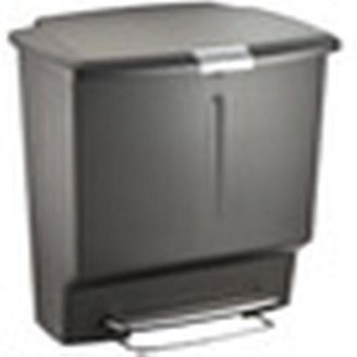 Container Store 15 gal. Rectangle Plastic Recycler Grey