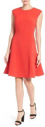 Petite Women's Halogen Ottoman Knit Fit & Flare Dress $99 thestylecure.com