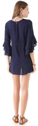 Vix Swimwear Solid Navy Nubia Cover Up