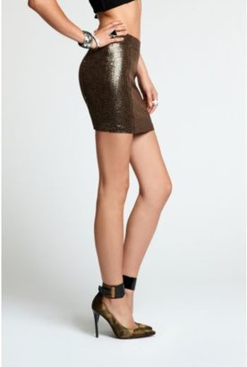 GUESS Gold Sequined Miniskirt