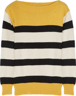 Aubin and Wills Fermore striped knitted cotton sweater