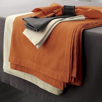 """Crate & Barrel Fete Pumpkin 60""""x120"""" Tablecloth"""