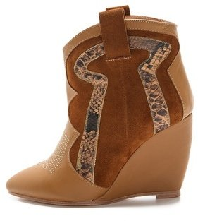 Madison Harding Roger Cowboy Wedge Booties