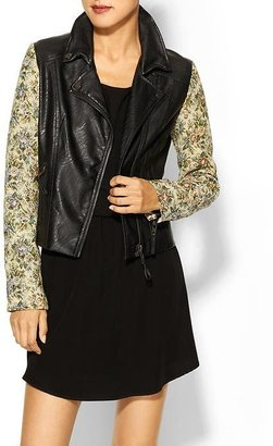 Juicy Couture Rhyme Los Angeles Tapestry Arm Vegan Leather Moto