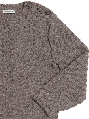Dolce & Gabbana Round Neck Heavy Wool Jumper