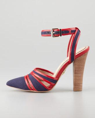 Pour La Victoire Kiran 2 Ankle-Wrap Sandal, Red/Navy