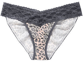 Victoria's Secret Cotton Lingerie Lace-waist Bikini Panty