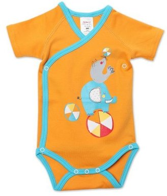 Zutano Unisex-Baby Newborn Showtime Screen Short Sleeve Wrap