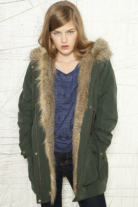 BDG Fur Hooded Jacket