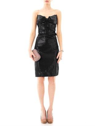 Vivienne Westwood Lamé strapless bow dress