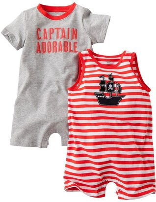 "Carter's 2-pk. ""captain adorable"" rompers - baby"