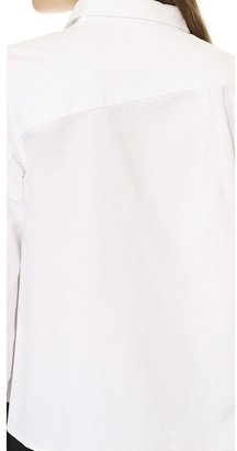 Band Of Outsiders Oxford Boxy Shirt with Contrast Stitching