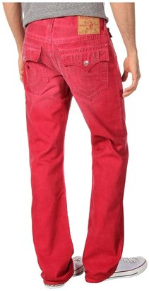 True Religion Ricky Straight Cold Press in Dusty Ridge Red (Dusty Ridge Red) - Apparel