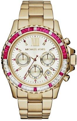 MICHAEL Michael Kors Michael Kors 'Everest' Baguette Crystal Bezel Bracelet Watch, 41mm