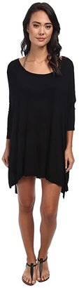 Body Glove Brynn 3/4 Sleeve Tunic Cover-Up (Black) Women's Dress