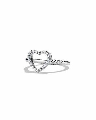 David Yurman Cable Collectibles Heart Ring with Diamonds